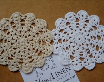 Set Of 12 pieces,  Handmade Cotton  Crocheted  Doilies