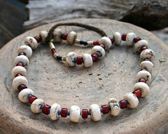Beautiful unique Nepalese shell bead necklace