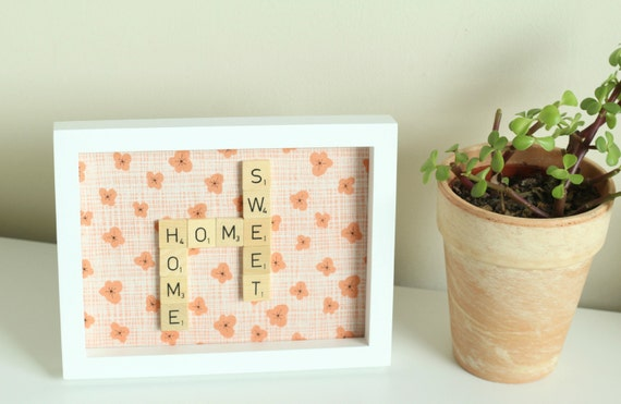 Home Sweet Home art from Etsy shop claireabellemakes