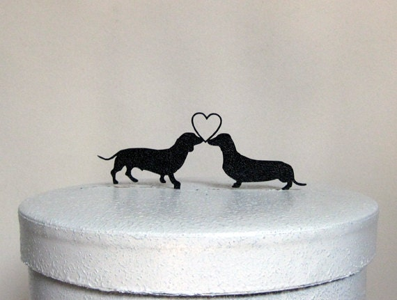 Wedding Cake Topper Dachshund Dogs Wedding