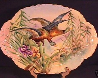 Hand Painted Signed Haviland Ranson Game Bird Platter