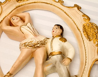 Universal Statuary Corp Ballet Dancers Plaster Wall Hanging