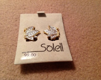 Vintage Soleil Clip on Earrings