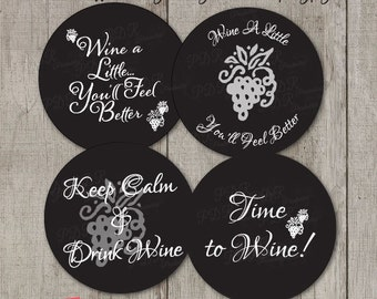 Wine Gift tags, Wine Party Favor Tags, Wine Gift Labels, DIY Party Printables