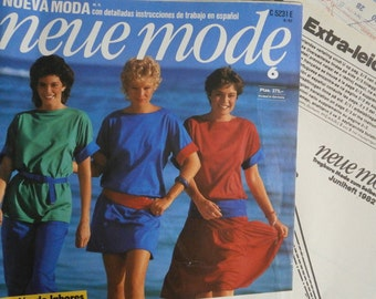 Vintage Neue Mode Magazine Including Sewing Patterns