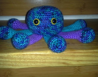 Crocheted Octopus - Purple and Teal