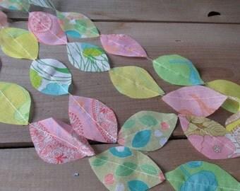 Boho Wedding Garland Pastel Vintage Voile Fabric 15 Feet Wedding Backdrop DIY Wedding