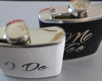Bride Flask Groom Flask Set Gift I Do Me Too