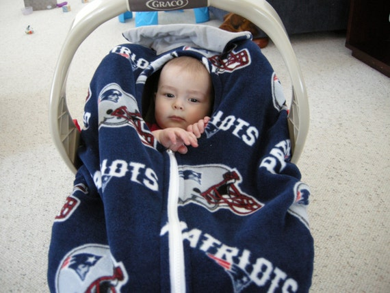 new england patriots infant car seat cover by reelstitch on etsy. Black Bedroom Furniture Sets. Home Design Ideas