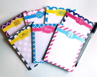 Personalized Monogram NotePad -  4 x 5""