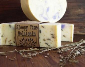 Sleepy Time Melatonin - Chamomile Infusion Castile - 77% Olive Oil Soap