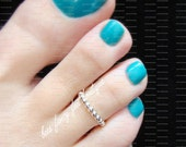 Toe Ring - Sterling Silver - Stretch Bead Toe Ring