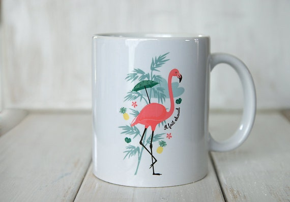 le mug flamant rose et ananas. Black Bedroom Furniture Sets. Home Design Ideas
