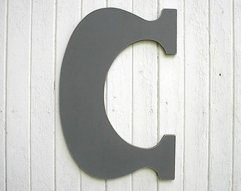 """Wedding Guest Books 30"""" C Extra large letters Gray Rustic letters Grey Signage Gift"""