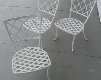3 BROWN JORDAN vintage patio chairs
