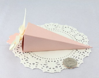 50 Pastel Cone Favor Gift, Wedding Bridal Baby Shower Party Valentine Treat Candy