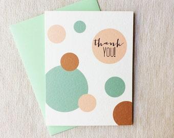 Thank You Mint Circles Card