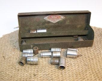 S & K Socket Box Vintage Tools Vintage Tool Box Socket Set