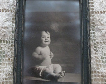 Antique Framed Photo of Baby