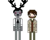 Hannigram (Hannibal and Will Graham) cross-stitch pattern