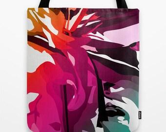 Canvas Tote Bag, Pink Tote Bag, Art Tote Bag, Abstract Art Bag