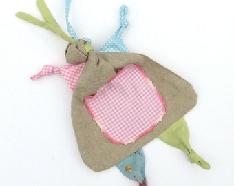 Rag Doll Lovey PDF Sewing Pattern - Baby Tag Blanket
