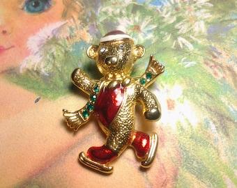 christmas vintage costume jewelry christmas brooch pin