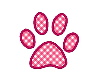 2 in 1 Cute Paw Print Embroidery Design and Applique Design