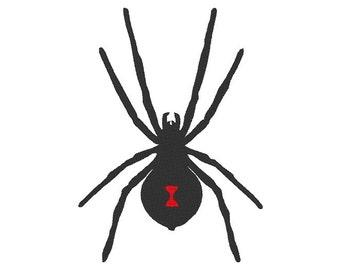 Black Widow Spider Embroidery Design