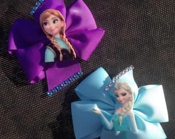 Frozen rhinestone Pinwheel Bows