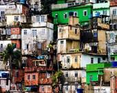 Painting Print art -  Serie BRICS - Slums - Rocinha, Brazil