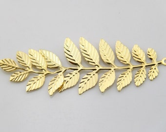 6 pcs of iron filigree charm 32x95mm-1596 -gold