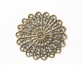 24 pcs of iron filigree charm 34mm-1625-antique bronze