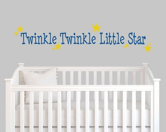 Twinkle Twinkle Little Star Decal - Twinkle Twinkle Little Star Sticker - Twinkle Twinkle Little Star Vinyl Decal 0023