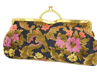 Vintage Chenille Tapestry Clutch