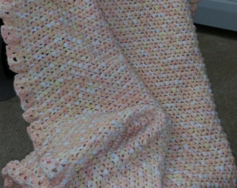 Baby Afghan in sunburst colors