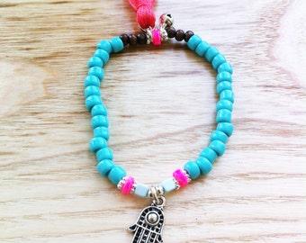 Bohemian Summer - turquoise and hamsa