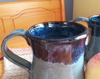 New 10 oz mug in Blue with darker blue rim.