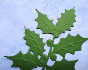 """Anna Griffin Holly Sprig Die Cut Set of 8 """"Available in 17 colors. Mix and Match too"""