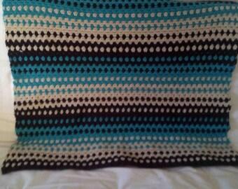 Rippled Crochet Blanket