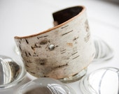Birch Bark Cuff  **Reserved for Cecily**