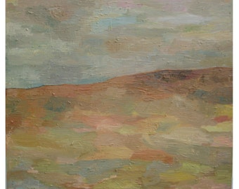 """ABSTRACT DESRRT Landscape One of a kind ,60 x 70 cm,  24""""x28"""", Original  OIL Painting on Canvas & Ready to Hang, ."""