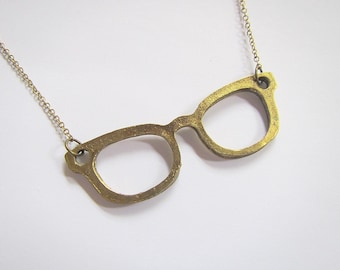 Barb's Eyeglasses Necklace: spectacles frame pendant, inspired by Stranger Things