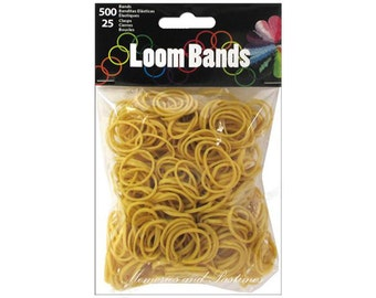 Light Coffee Brown Loom Bands Pkg Of 500 With 25 Clasps