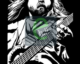 Dave Schools Silkscreen Poster. Limited Edition. Widespread Panic