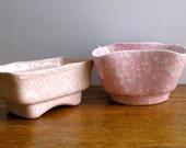 Vintage Pair of Pink Planters