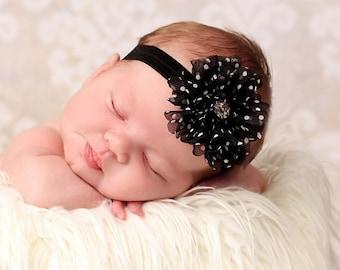 Black Headband..Newborn Headband..Baby Girl Headband..Baby Headband..Headband..Toddler Headband..Infant Headband..Baby..Baby Girl
