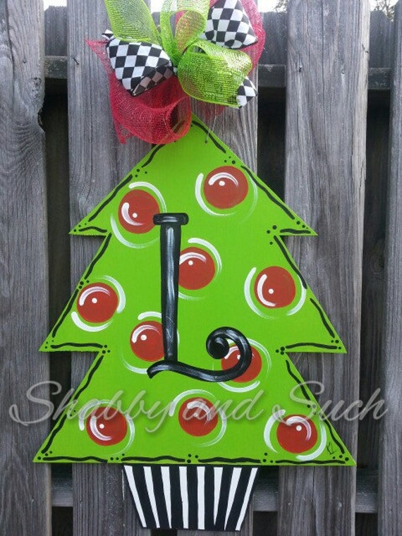 Door Hanger Christmas Tree Door Hanging Door Decor X Large