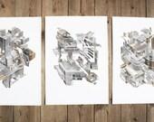 Machines - set of 3 prints. Size A4