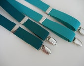 Teal Elastic Suspenders for Babies and Toddlers